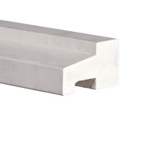 Kozijnprofiel C wit gegrond 66x110x5900mm meranti gevingerlast  (onderdorpel)