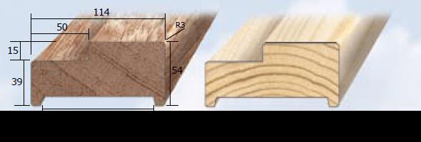 Inmetselkozijn stomp wit 56x115x2315mm grenen bovendorpel