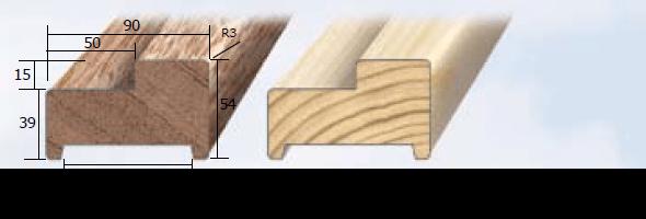 Inmetselkozijn stomp meranti wit gegrond 54x90x2315mm bovendorpel